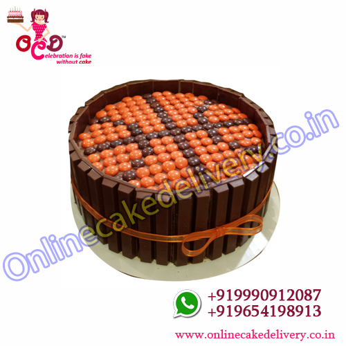 Online KitKat Gems Cake Delivery In Hyderabad