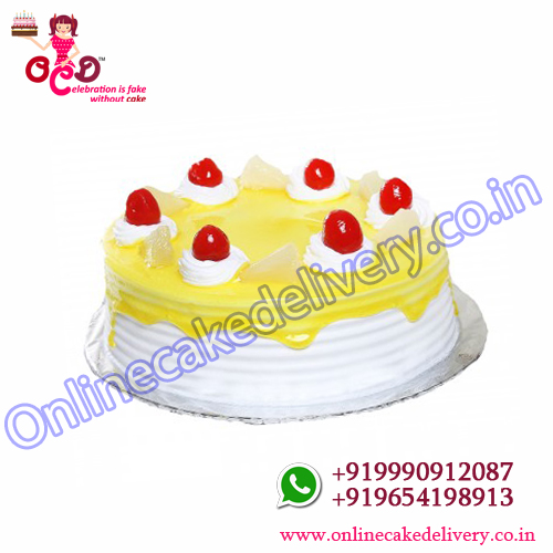 Buy Half Kg Pineapple Cake