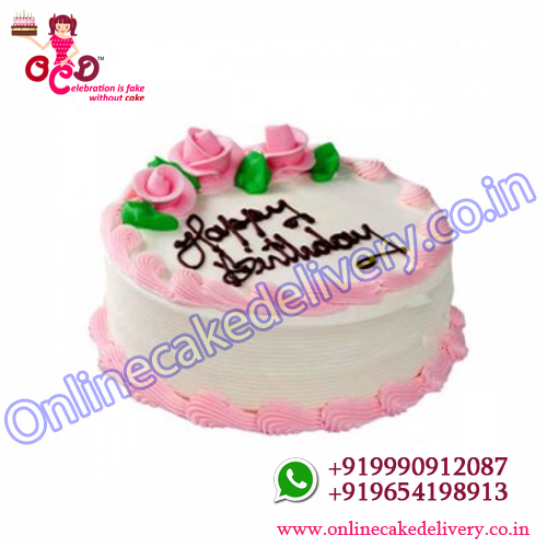 Strawberry Cake In India