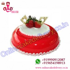 Half Kg Strawberry Cake To India