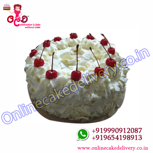 Send Half Kg White Forest Cake