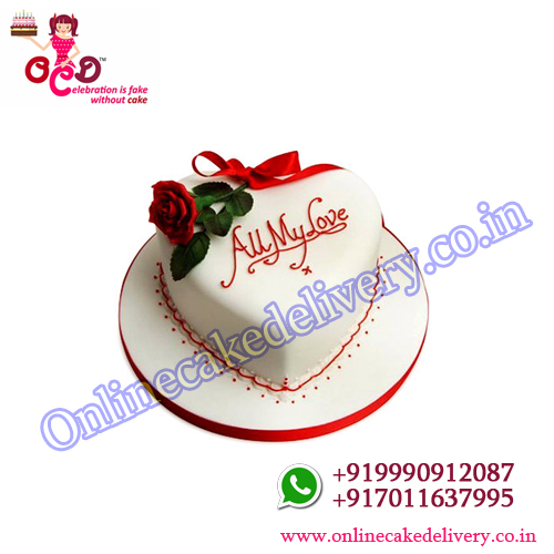 All My Love 1kg Vanilla valentine's day cake delivery
