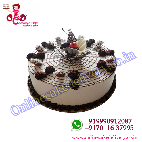 Web Of Happiness  Vanilla valentine cake online
