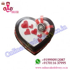Love in abundunce Half kg heart shaped valentine cakes