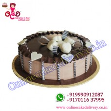 Stellar Chocolate Half kg order cake for valentine's day