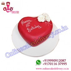 valentine day cake with name Blossoming Love 1kg Vanilla