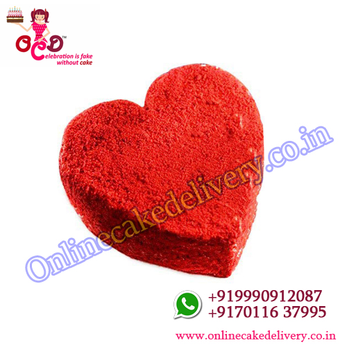 valentines day cake order Red Velvet Heart
