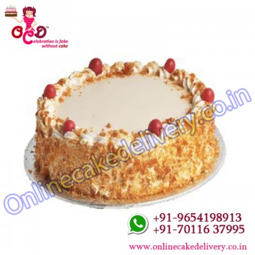 Butterscotch cake eggless
