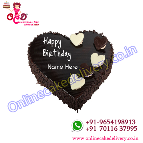 Choco chip Heart shape Cake