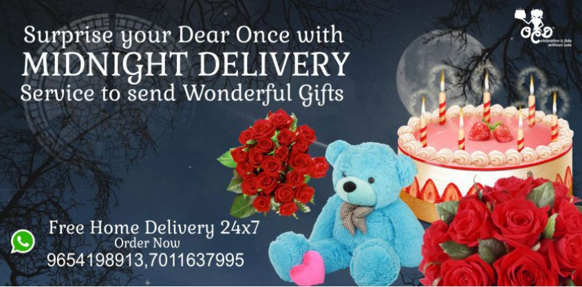 Online Cake Delivery India Same Day Midnight In 2 3
