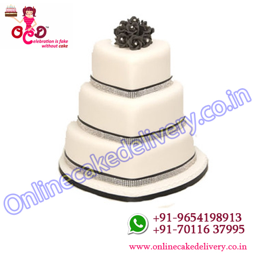 3 tier heart shaped cake