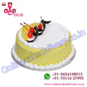 Pineapple Round Slice Cake