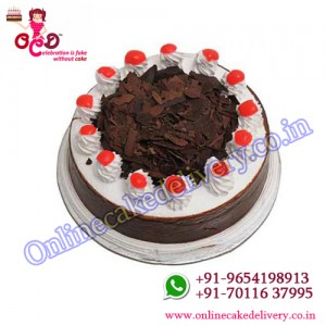 black forest in round shaped cake CUSTOM cakes online