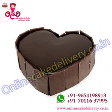 Chocolate Truffle cake in Heart special cakes