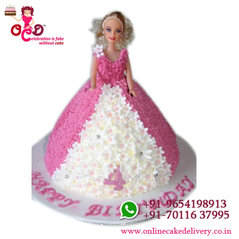 Barbie Cake Barbie Doll Birthday Cake Barbie Doll Cake Design