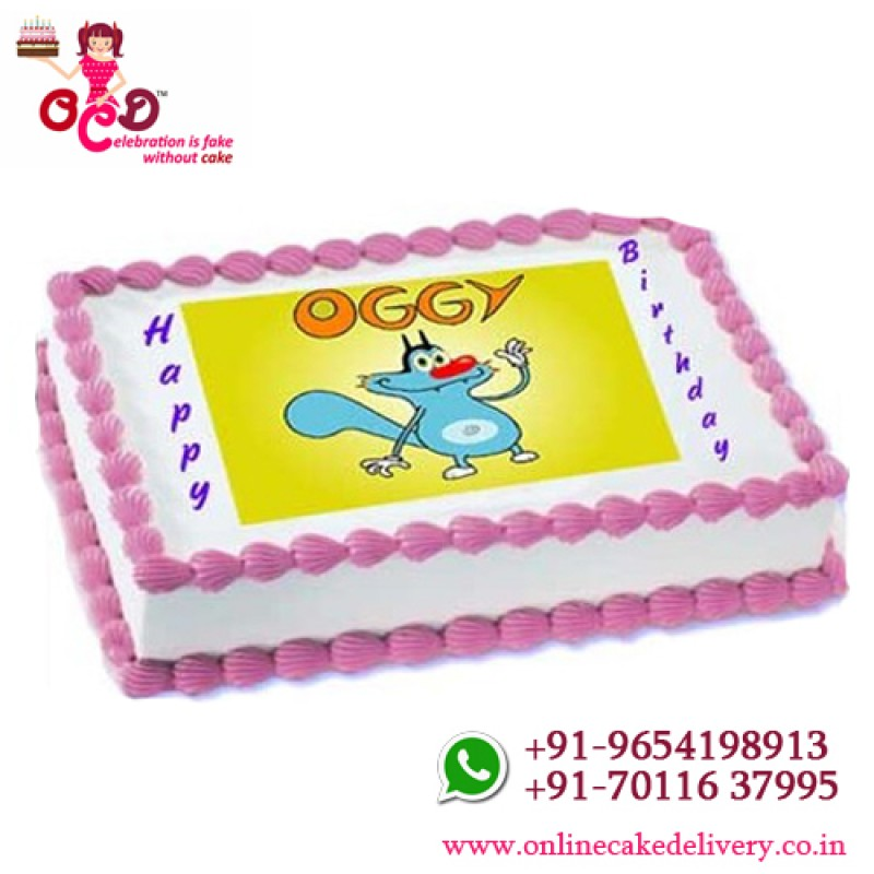 Oggy Cakeoggy Birthday Cartoon Cake
