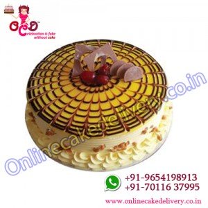 Butter Scotch Cream Round Cake