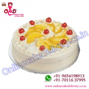 Pineapple Slice Round Cake