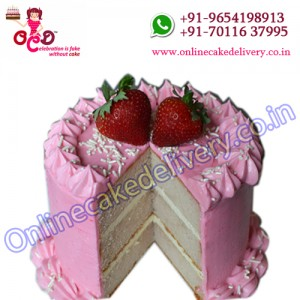 Strawberry Round Cake is your online birthday cake