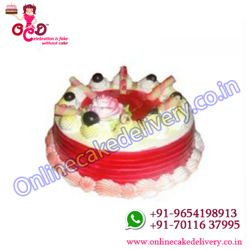 Strawberry Flavour Cake